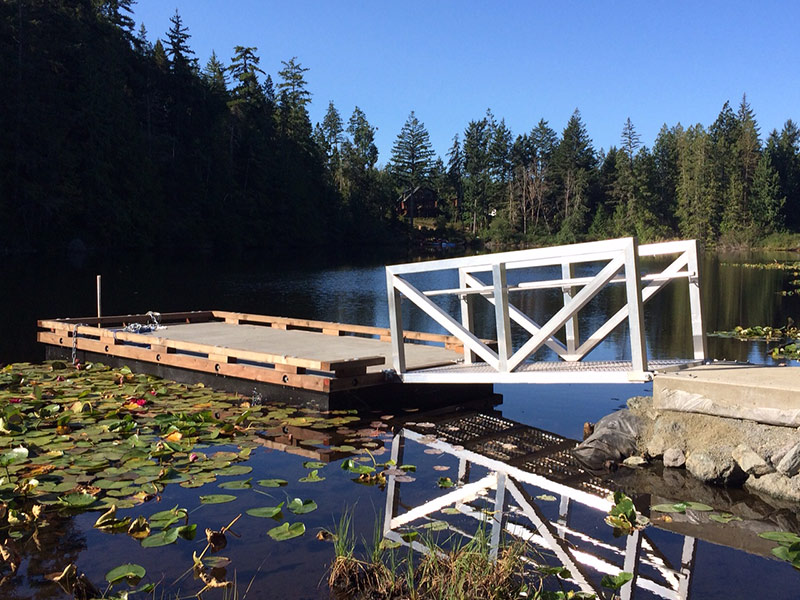 The new fishing dock at Poirier Lake (click on photo for larger image)