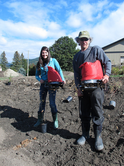 Guest blog post author Kayla Akins helps to seed the Radies site.