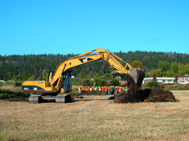 No time to waste- construction of the wetland begins the very next day.